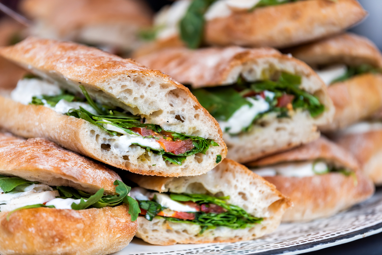 An Array of Italian Cold Sub Sandwiches available for Catering