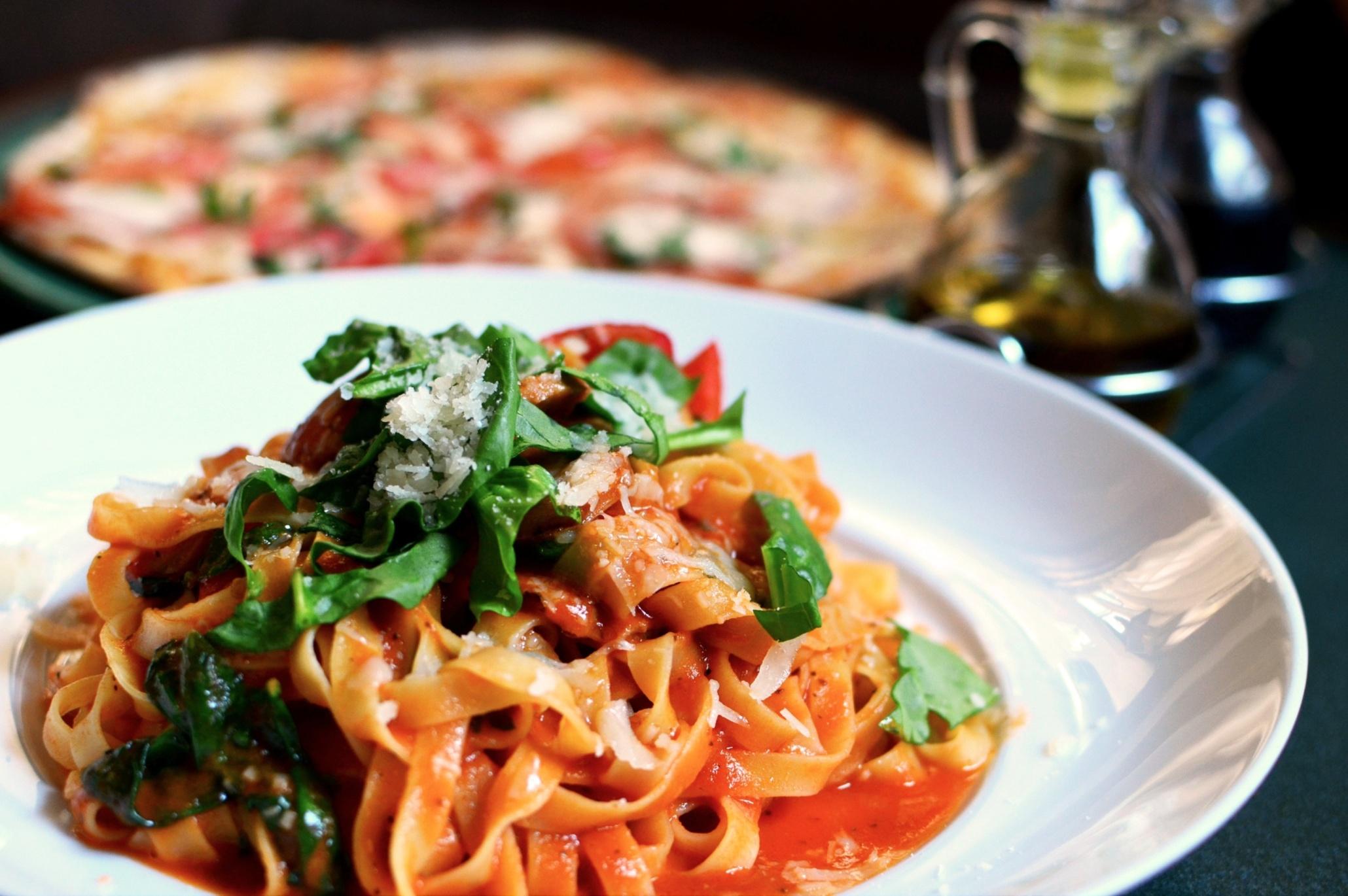 Italian Pasta and table setting